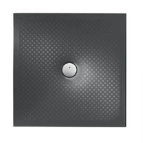 Roca In Floor Anti-Slip Square Shower Tray - 900mm x 900mm - Matt Black